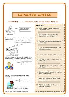 reported speech step by step step 1 grammar part 1 worksheet free esl printable. Black Bedroom Furniture Sets. Home Design Ideas