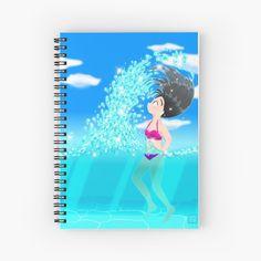 'Beach Splash' Spiral Notebook by konapple Notebook Design, Iphone Wallet, Sell Your Art, Floor Pillows, Spiral, Paper, Beach, Shop, The Beach