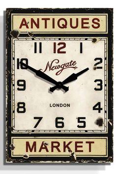 Antique Market Wall Clock
