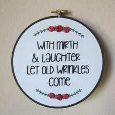 Shakespeare quote hand embroidery 6 inch hoop by MoonriseWhims