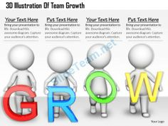 1813 3D Illustration of Team Growth Ppt Graphics Icons Powerpoint #Powerpoint #Templates #Infographics