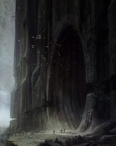 Concept Art | There has to be something living in there to have an entrance so big for it to enter...