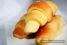 Kifle koje se ne mese — Coolinarika Hot Dog Buns, Hot Dogs, Dinner Rolls, Bakery, Recipies, Bread, Cooking, Recipes, Kitchen