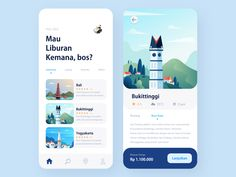 Travel App designed by Ulul Amri for Sebo . Connect with them on Dribbble; the global community for designers and creative professionals. Web Design Mobile, App Ui Design, Interface Design, User Interface, Dashboard Design, Flat Design, Design Design, Apps, Ui Design Principles