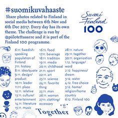 Kerroin tiistaina #suomikuvahaaste-ideastani joka pääsi mukaan Suomi Finland 100 -ohjelmaan. Haaste on herättänyt nyt jo yllättävän paljon huomiota ja kiinnostusta joten tein sitä varten myös englanninkieliset ohjeet.   http://ift.tt/2j0OwPM
