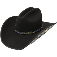 Shop Red, Yellow, and Blue Aztec Trim 4in Brim Cowboy Hat