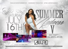 Summer Madness V Day Party & All White Affair @ Allure Saturday July 16, 2016