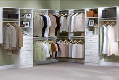 Closet organization will make you loog good!
