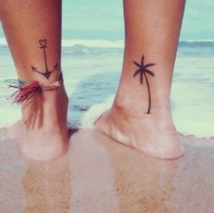 Palme als Tattoo Summerfeeling für Beachgirls