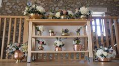 Amazing brassware at this October wedding