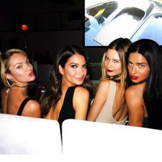 Angel Candices, Lily Aldridge, Behati Prinsloo, Adriana Lima, #vsfashionshow #vsfs2013