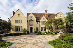 CURB APPEAL – another great example of beautiful design. Private residence with English Tudor traditional exterior in dallas by Fusch Architects, Inc.