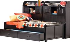 Mission Black 5 Pc Full Bookcase Daybed