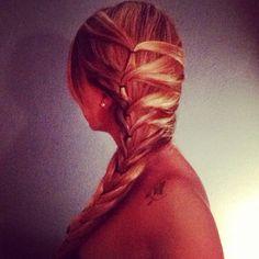 Hair Style - Trenza hecha con gomas