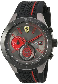 online shopping for Ferrari Men's Quartz Stainless Steel Silicone Watch, Color:Black (Model: from top store. See new offer for Ferrari Men's Quartz Stainless Steel Silicone Watch, Color:Black (Model: Armani Watches, Luxury Watches, Patek Philippe, Devon, Cool Watches, Watches For Men, Wrist Watches, Men's Watches, Cartier
