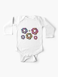 """""""Nebula Scrunchies Pack """" Baby One-Piece by AElenaS How To Make Scrunchies, Simple Dresses, Chiffon Tops, V Neck T Shirt, Classic T Shirts, Short Sleeves, One Piece, Baby, Hoodies"""