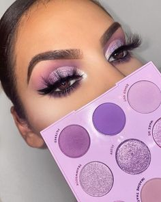 10 Most Creative Makeup Ideas That Are Trending 10 kreativsten Make-up-Ideen, die Trend sind Makeup Eye Looks, Purple Eye Makeup, Colorful Eye Makeup, Purple Makeup Looks, Makeup Blush, Flawless Makeup, Skin Makeup, Eyeshadow Makeup, Eyeshadows