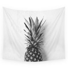 Society6 Black And White Pineapple Wall Tapestry from Shop Society6. Shop more products from Shop Society6 on Wanelo.