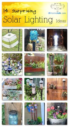 14 Surprising {Solar Lighting} Ideas | curated by 'One More Time Events' blog!