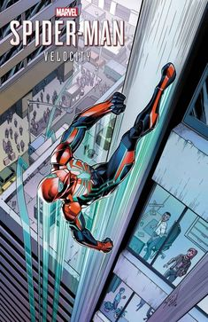 Marvel's Spider-Man: Velocity variant cover and Marvel Comics variant cover by Mark Bagley * Spiderman Suits, Spiderman Art, Amazing Spiderman, Man Wallpaper, Marvel Wallpaper, Marvel Comics Art, Marvel Heroes, Spaider Man, Mark Bagley