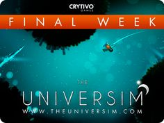 The Universim is a next generation Planet Management God - Game in development by Crytivo Games and designed by Alex Koshelkov.