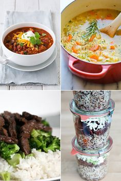 41 Easy Work Lunches That Aren't Salads or Sandwiches - Recipes Veggie Recipes, Lunch Recipes, Cooking Recipes, Healthy Recipes, Yummy Recipes, Healthy Treats, Cooking Ideas, Healthy Foods, Soup Recipes