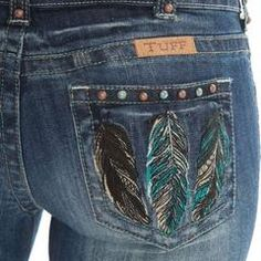 Cowgirl Tuff Ladies' Fly Free Feather Pocket Boot Cut Jeans JFLYFR