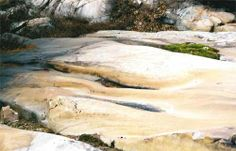 Curving channels (called P-forms) carved into bedrock, Killarney Provincial Park, Ontario, Canada. Ice Sheet, Geo, Ontario, Canada, Earth, Water, Water Water, Aqua, Mother Goddess