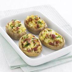 Kartoffeln mit Käse-Speck-Füllung
