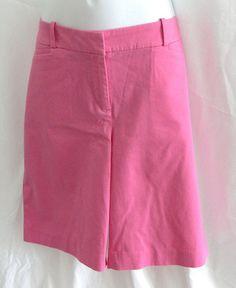 New Womens Talbots Cotton Blend Pink Bermuda Shorts Size 10 #Talbots #BermudaWalking