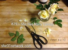 You are full of talent and potential! God has designed you to flourish in life as you follow your passions and dreams. 31 Traits of A Godly Woman series. Explore modern day Biblical womanhood. www.she31network.com