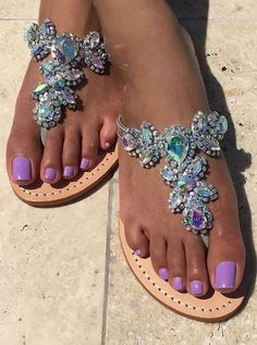 Can't decide if I love the sandals or the nail polish color more LOL