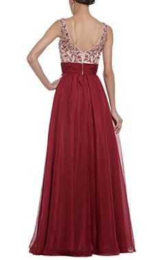 Smile YKK Women Fashion Bride Princess V Neck Backless Maxi Long Party Evening Dress M. Material:Chiffon. S:Bust 85-88cm Waist 65-67cm Hip 97-99cm Shoulder 37-39cm Length 144-146cm M:Bust 90-93cm Waist 70-72cm Hip 97-99cm Shoulder 38-40cm Length 146-148cm. L:Bust 97-100cm Waist 76-80cm Hip 103-107cm Shoulder 39-41cm Length 148-150cm XL:Bust 104-109cm Waist 84-88cm Hip 110-116cm Shoulder 40-42cm Length 152-154cm. It's great for daily casual, ball, party, banquet and other special occasion…
