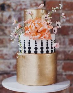 85. Wanting to keep your reception decor simple and really wow with your cake? This is how you can do it! See more of this Chanel Meets Brooklyn shoot here captured by Jenny Futography with cake by Lael Cakes.