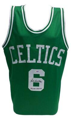 ac67e00fb07 Bill Russell Signed Custom Green Basketball Jersey 11x NBA Champs PSA W28899