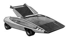 Ford Coins (Ghia), 1974 - Design Sketch