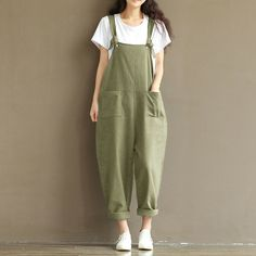 cec6c4f64e526 Aliexpress.com   Buy Romacci Women Fashion Jumpsuit Oversize Overalls Solid Sleeveless  Pockets Wide Leg Pants Fashion Casual Playsuit Plus Size from ...