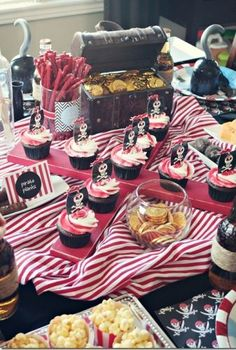 """X"" marks the spot for great pirate birthday party ideas.  See more pirate and birthday parties for kids at www.one-stop-party-ideas.com"