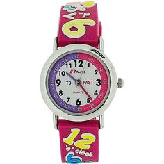 Ravel Girls-Kids Know Your Numbers Time Teacher White Dial Watch Knowing You, Bracelet Watch, Numbers, Teacher, 3d, Watches, Girls, Ebay, Fashion