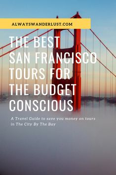 The Best San Francisco Tours For The Budget Conscious Traveler – Finance tips, saving money, budgeting planner Travel Advice, Travel Guides, Travel Tips, Travel Destinations, Travel Hacks, Travel Packing, San Francisco Tours, Budget Planer, Usa Travel