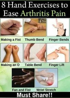 8 Simple Hand Exercises for Arthritis Pain --  A must share to your friends and…