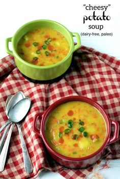 """Dairy-free and Paleo """"Cheesy"""" Potato Soup. This comforting soup is a family classic and the perfect comfort food!"""