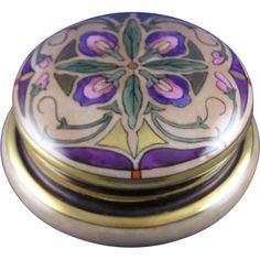 Austria Arts & Crafts Floral Motif Covered Jar (Signed M.M. Howells/c.1910-1920)