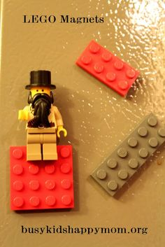 LEGO Magnets DIY - Busy Kids=Happy Mom