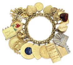 LIz Taylor's charm bracelet