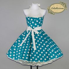 tyrkysová spodnička korzet šaty - LolaBlossom.com