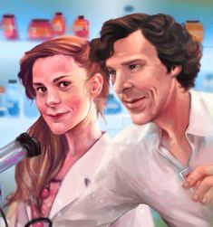 www.youtube.com/watch?v=F8i-e6… speedart Thank you so much for the commission, I was very happy to draw Molly and Sherlock. really love this couple Molly Hooper-Louise Brealey Sherlock- Bene...