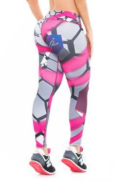 Fiber - Pink Spray Paint Leggings - Roni Taylor Fit  - 3