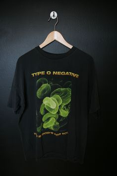 Type O Negative This Blood's For You 1990s vintage Tshirt. Size XL This shirt is in great vintage condition with some fading throughout and minimal cracking on the graphic. Super soft. Measurements: Pit to pit: 23 Top of collar to bottom hem: 29 We do our best to describe all items. All sh