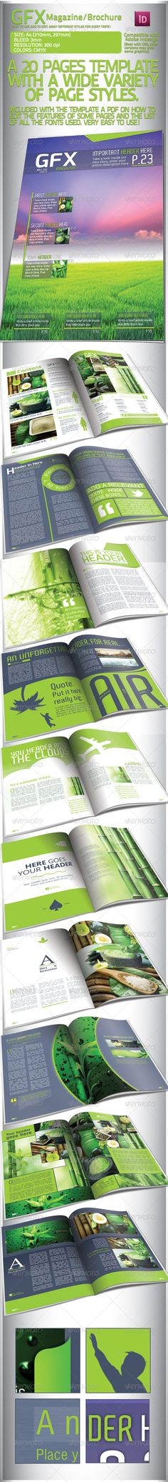 DOWNLOAD:  https://graphicriver.net/item/clean-green-magazinebrochure-20-pages/1955672?ref=StormDesigns